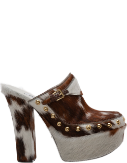 Women's clog leather
