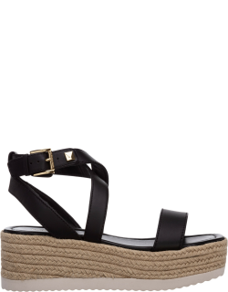 Women's leather shoes wedges sandals lowry