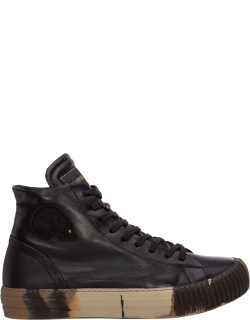 Men's shoes high top leather trainers sneakers