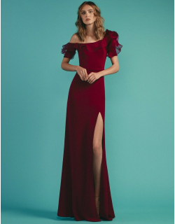 Beside Couture by GEMY Ruffled One Shoulder Evening Gown