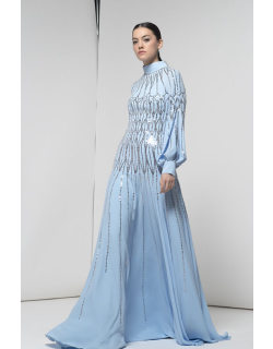 Isabel Sanchis Long Sleeve Esmerald Gown