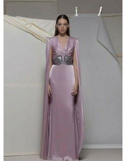 Isabel Sanchis Arcene Fitted Cape Gown