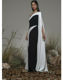 Isabel Sanchis Baceno Cape Sleeve Gown