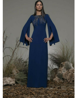 Isabel Sanchis Baradili Cape Sleeve Gown