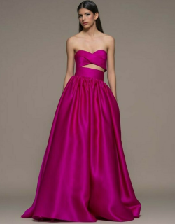 Isabel Sanchis Basciano Strapless A-Line Gown