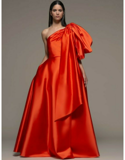 Isabel Sanchis Bassano Draped Bow Gown