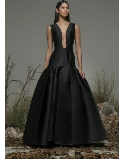 Isabel Sanchis Beverino Plunging Neck Gown