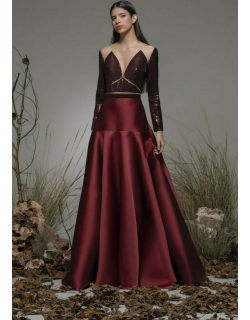Isabel Sanchis Biccari Long Sleeve A-Line Gown