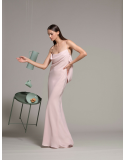 Isabel Sanchis Sleeveless Pink Evening Gown
