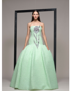 Isabel Sanchis Strapless Evening Ball Gown