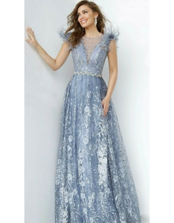 Jovani Embroidered Maxi Evening Gown
