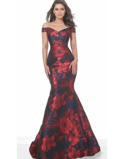 Jovani Off the Shoulder Sweetheart Neck Evening Gown