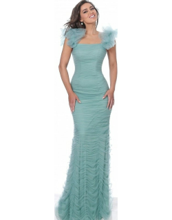 Jovani Ruched Form Fitting Evening Gown