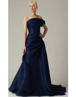 Nardos Couture Draped One Shoulder Evening Gown