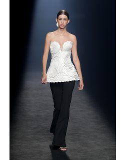Isabel Sanchis Caccuri Strapless Top and Trousers