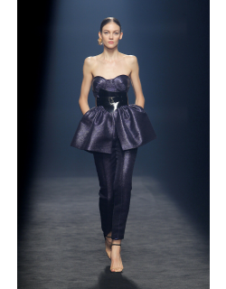 Isabel Sanchis Caldogno Strapless Peplum Top and Trousers