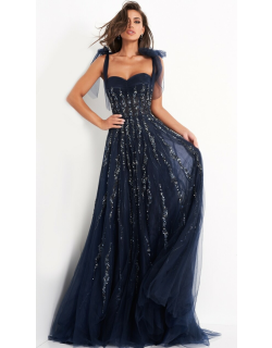 Jovani Sweetheart Neck Maxi Evening Gown