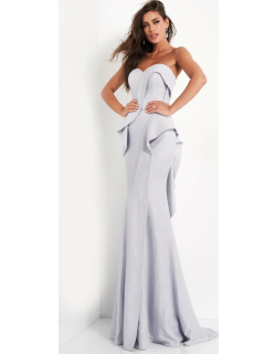 Jovani Strapless Sweetheart Neck Evening Gown