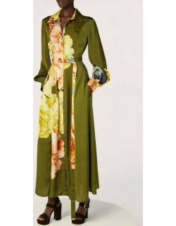 Jason Wu Collection Long Sleeve Belted Day Dress