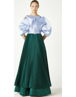 Khoon Hooi Sarah Strappy Pleated Gown