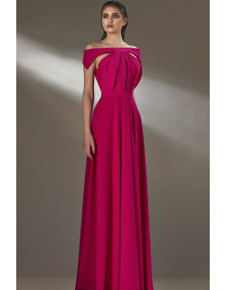 MNM Couture Cut-Out Off Shoulder Gown