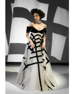 Bibhu Mohapatra Off Shoulder Strapless Gown