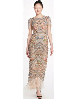 Marchesa Fully Embellished Evening Gown