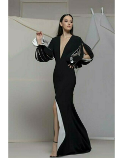 Isabel Sanchis Agrigentos Long Sleeve Gown