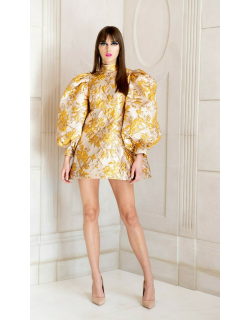 RVNG Couture Silk Brocade Cocktail Dress