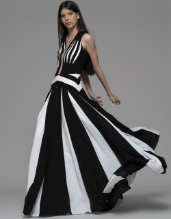 Isabel Sanchis Dragoni Sleeveless Pleated Gown