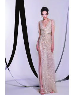 Tony Ward Crystal Embellished Gown