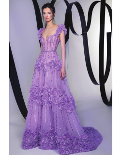 Tony Ward Floral Embellished Gown