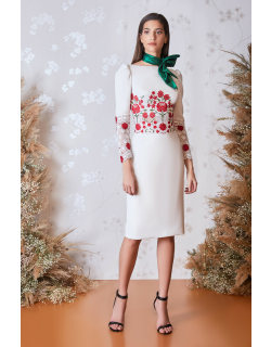 Gatti Nolli by Marwan Long Sleeve Floral Top and Skirt