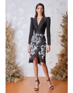 Gatti Nolli by Marwan Long Sleeve Top and Floral Skirt