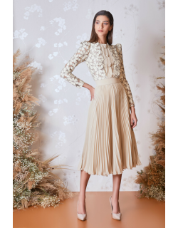 Gatti Nolli by Marwan Long Sleeve Top and Pleated Skirt