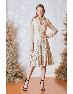 Gatti Nolli by Marwan Long Sleeved Top and Floral Skirt