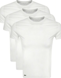 Lacoste Triple Pack T Shirts White