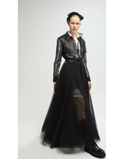 Yolancris Long Sleeve Blouse, Skirt and Trench