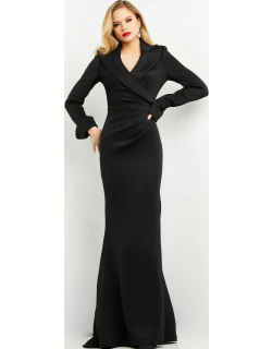 Jovani Long Sleeve Collared Gown