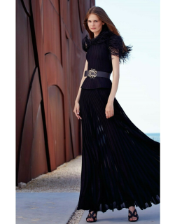 Elie Saab Knit Feathered Top and Skirt