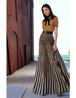 Elie Saab Knit Top and Long Skirt