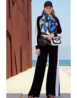 Elie Saab Mikado and Cotton Sweater and Pants
