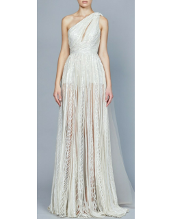 Elie Saab Yarn Embroidered Long Gown