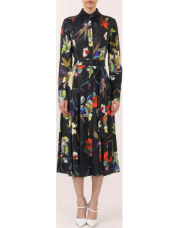 Jason Wu Collection Long Sleeve Pleated Day Dress
