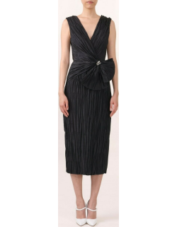Jason Wu Collection Pleated V-Neck Cocktail Dress