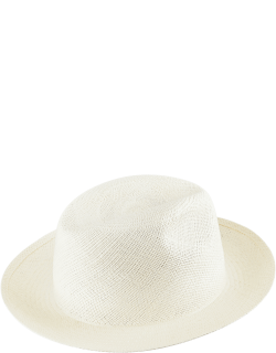 Unisex Natural Straw Panama Hat Solid - Hat - Charming - Beige
