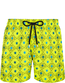 Men Swim Trunks Embroidered Squad Turtles - Limited Edition - Swimwear - Mistral - Green