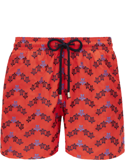 Men Swim Trunks Embroidered - Limited Edition - Swimwear - Mistral - Red