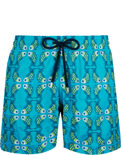 Men Swim Trunks Embroidered Sweet Fishes - Limited Edition - Swimwear - Mistral - Blue