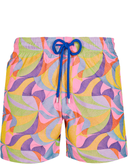 Men Swim Trunks Embroidered 1984 Invisible Fish - Limited Edition - Swimwear - Mistral - Pink